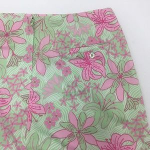 Lilly Pulitzer Skirts - Lilly-Pulitzer-Womens-Size12-Pink-and-Green-Skirt